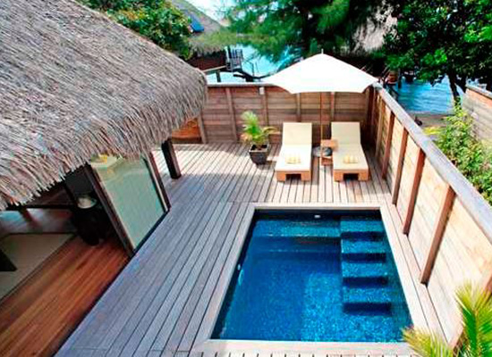 Hilton moorea lagoon resort spa deals pacific for less for Garden pool bungalow